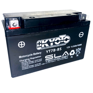 Batterie Moto GEL 12V -  7Ah -  Dim.145x60x90