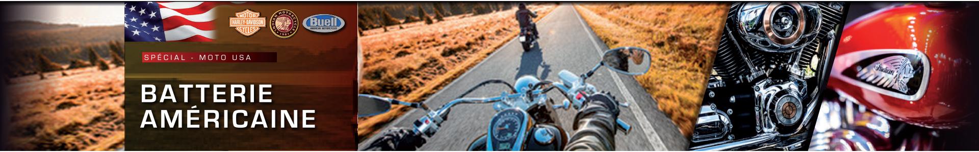Batterie pour moto américaine, Harley Davidson, Buell, Indian Scout, Batteries Sélection