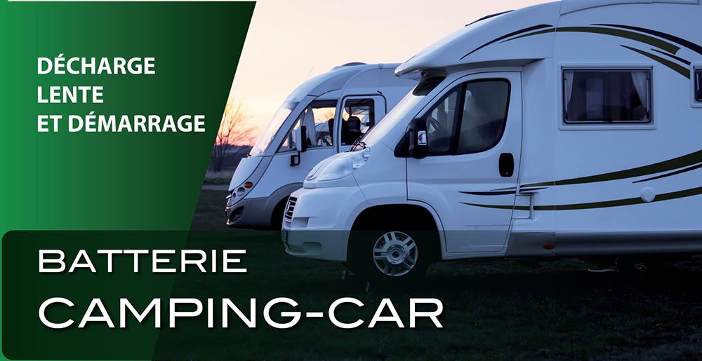 Batterie camping car - décharge lente et démarrage